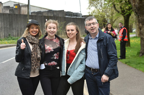 Elaine Dolan, Emma O'Connor, Sarah Keane and Paul O'Connor, Tower at the Ed Sheeran concert at Pairc Ui Chaoimh. Picture Dan Linehan