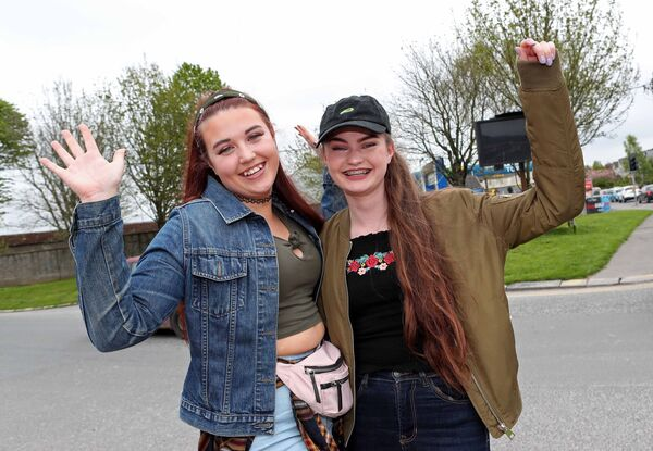 Sisters, Kara and Amy Buckley, from Cobh. Picture: Jim Coughlan.
