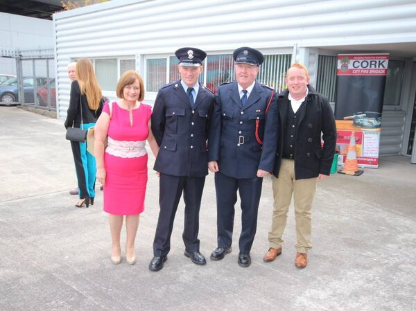 Ger Dolan (2nd left)at passing out parade in Cork in 2014 before kidney donation to brother Jimmy (right) with proud parents Marie and Frankie. Picture: John Allen