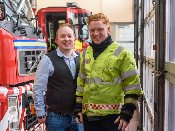 Jimmy and Ger Dolan, pictured at Anglesea Street fire station. Picture: John Allen.