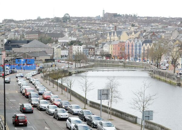 Traffic on Lavitt's Quay. Picture: Denis Minihane