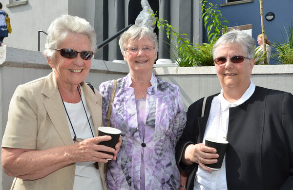 Srs Moya Hegarty, Maureen Boland and Maureen Moloney seen at the presentation of the Nano Nagle letters by the Ursulines to the Presentation Sisters at Nano Nagle Place recently. Picture: Howard Crowdy