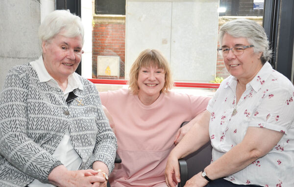 Pictured at the presentation of the handing over of the Nano Nagle letters at Nano Nagle Place were Kay Dunne, Danielle O'Donovan and Susan Richert. Picture: Howard Crowdy
