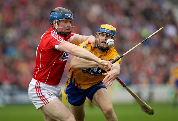 Conor Lehane with Seadna Morey of Clare. Picture: INPHO/Oisin Keniry