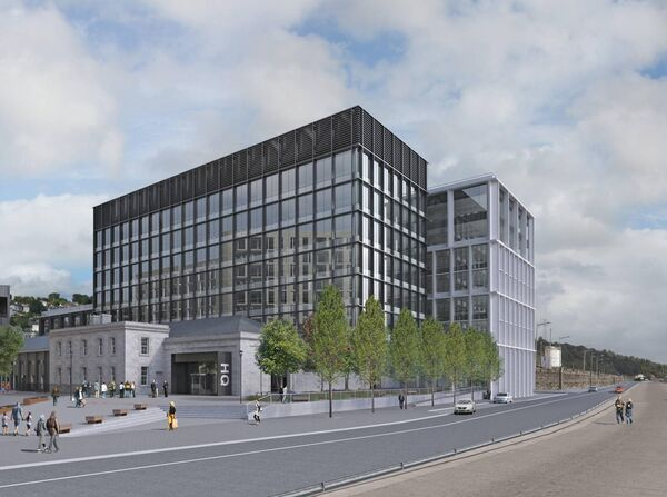 An artist impression of the proposed development at Horgan's Quay.