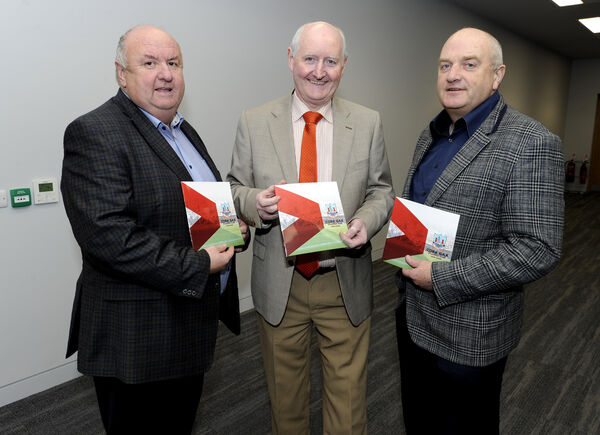 Noel O'Callaghan, Pat Horgan, and Diarmuid O'Donovan at the launch of the Cork GAA strategic plan 2018-2020. Picture: Gavin Browne
