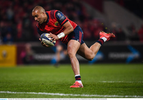 Simon Zebo in action. Picture: Stephen McCarthy/Sportsfile