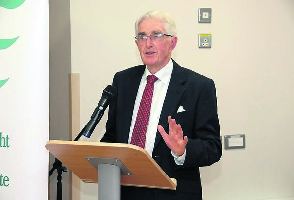 Dr. Tom Cavanagh speaking at the official opening of the newly refurbished Dochas Ward & Craoi at Fermoy Community Hospital. /Picture: Richard Mills