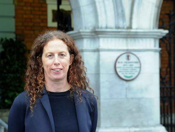 Mary McCarthy, incoming director, Crawford Art Gallery, Cork, pictured in front of the Crawford Art Gallery. Picture: Denis Minihane.