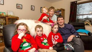 Christmas joy: Ava reunited with her family after long battle