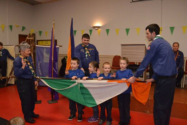 Four of the Beaver Scouts Tommy McGee, Beth Walsh, Matthew Clune and Lucy Hannon from the 17th/51st Cork (Blackrock) who were invested at a special ceremony last Sunday. Pic: D.P.Barry