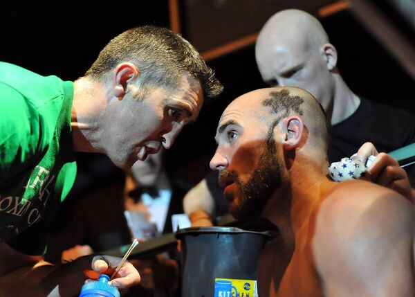 Pascal Collins advises Spike during a fight. Picture: Damien Quirke