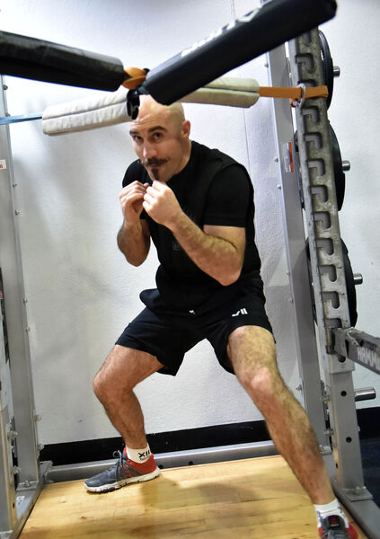 Spike O'Sullivan in training at gym in The Mardyke Arena. Picture: Eddie O'Hare