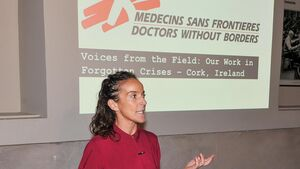 Cork woman speaks about working with Doctors Without Borders