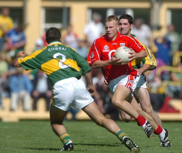 Cork's Micheal Shields on the attack against Kerry during the Munster SFC final in Killarney. Picture: Eddie O'Hare