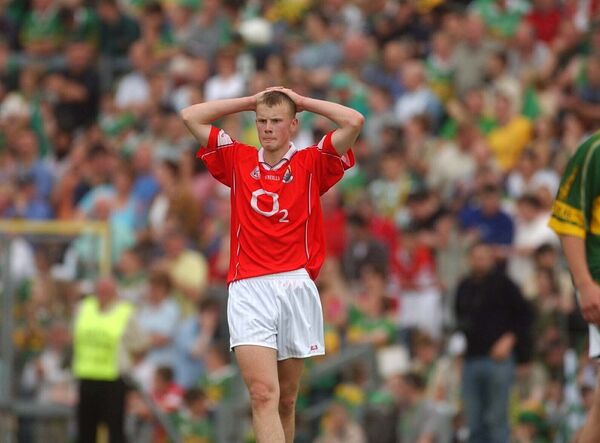 Michael Shields after defeat by Kerry in the 2003 minor final. Picture: Eddie O'Hare