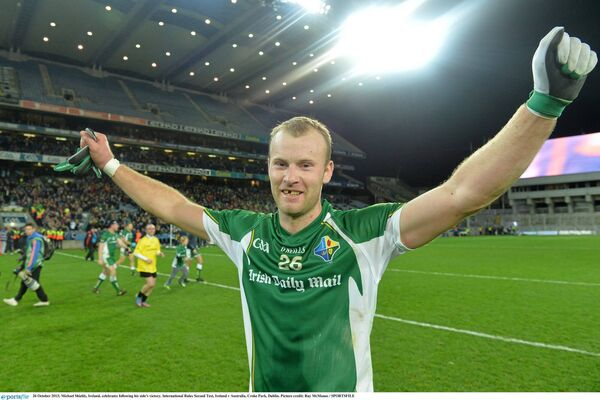 Michael Shields after winning with Ireland in 2013. Picture: Ray McManus/SPORTSFILE