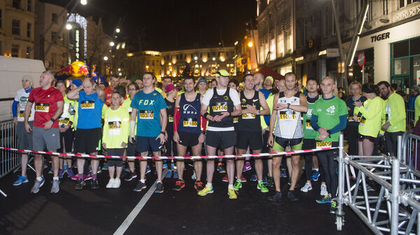 Waiting for the off at last nights Run in the Dark in Cork City. Picture Dan Linehan