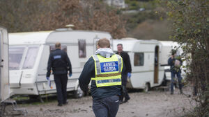 Major garda search on unofficial Traveller halting site near Little Island