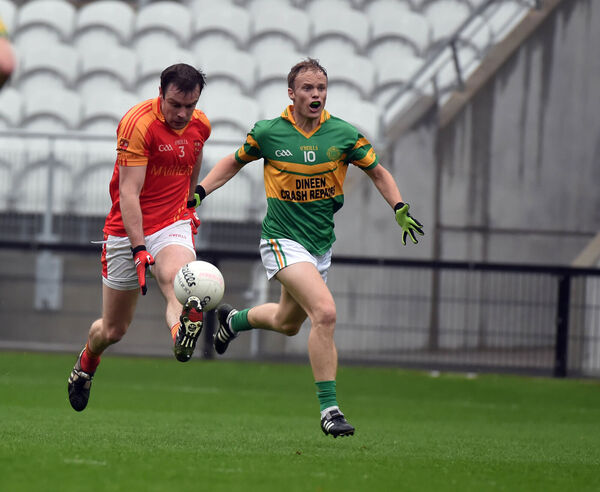 Mallow's James Loughrey goes past St Michael's Eric Hegarty. Picture: Eddie O'Hare