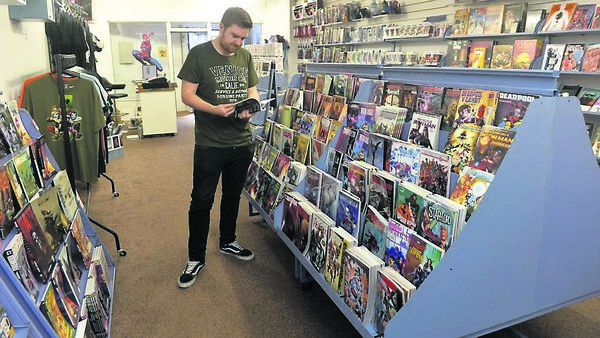 Cathal at the Comic Vault on Lower Oliver Plunkett Street, Cork. Picture Dan Linehan