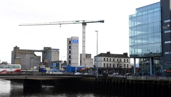 O'Callaghan Properties development at Navigation Square in the Cork Docks. Pic; Larry Cummins.