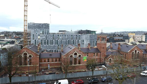 The new courthouse nears completion on Anglesea Street. Pic; Larry Cummins