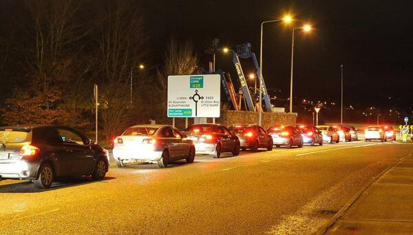 Traffic congestion in Little Island last night. Cork is going to continue to suffer from traffic congestion as a by-product of prosperity, according to Conor Faughnan of the AA. Picture: David Keane.