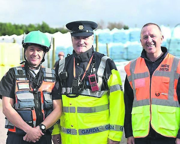 Dr Tony Lynch, Cork Civil Defence; Sgt. Peter Murphy, Anglesea Street and Insp. Finbarr O'Sullivan at the scene.