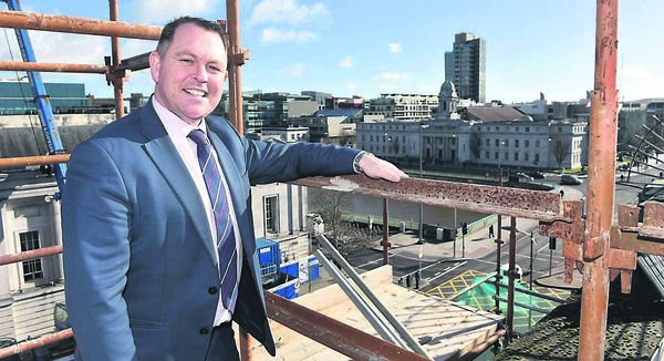 General Manager, Robert McCarthy on the roof of the new Maldron Hotel, South Mall, Cork. Picture Dan Linehan