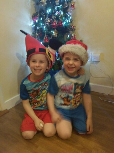 BOND OF LOVE: Tristan Forde (right) with his brother Oscar last Christmas