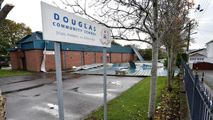 Roof blown off Douglas Community School's sports hall