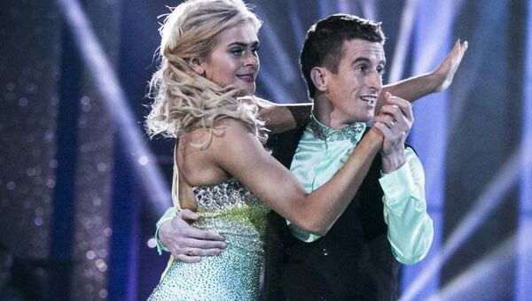 Robert Heffernan and his dance partner, Emily Barker, on the dance floor during last night's show.