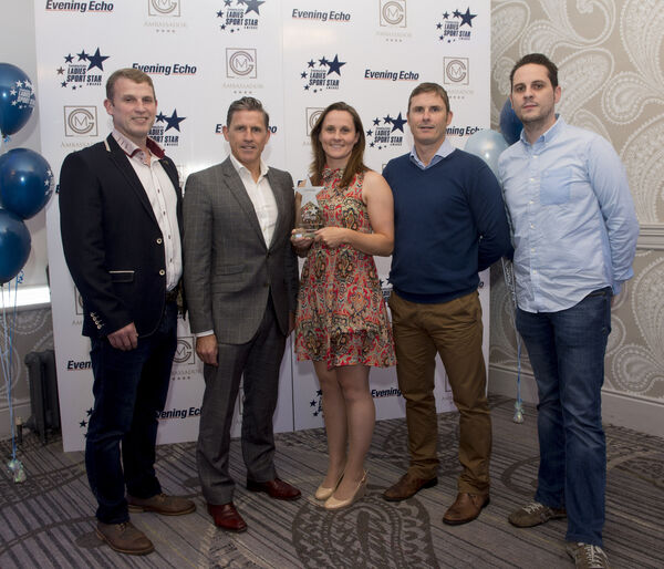 Aoife Murray with her brothers, Damien, Paudie and Kevin with first cousin Niall Collins. Picture: Dan Linehan