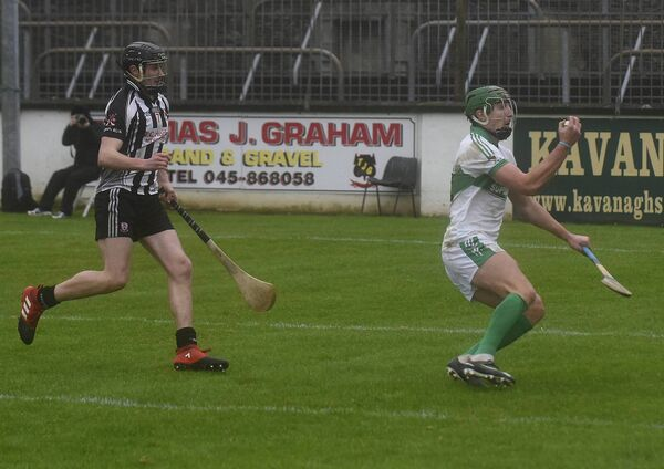 Aidan Walsh appears to be surprised to have caught the sliothar. Picture: Moya Nolan