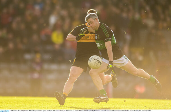 Paddy Gumley is fouled for an early free against Croke's. Picture: Eóin Noonan/Sportsfile