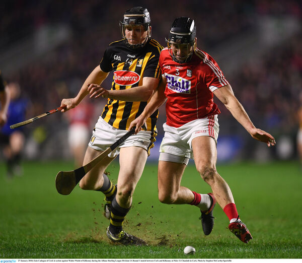 Eoin Cadogan in action against Walter Walsh. Picture: Stephen McCarthy/Sportsfile