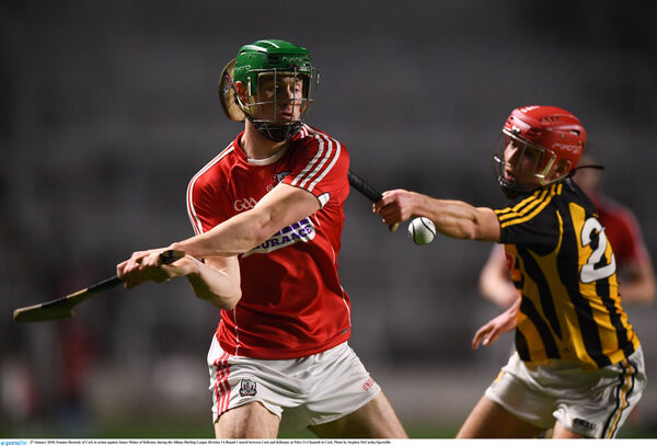 Seamus Harnedy fires past James Maher of Kilkenny. Picture: Stephen McCarthy/Sportsfile