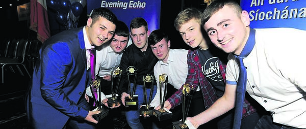 Recipients, from the Bishopstown Communtiy Youth Project, Kyle Murphy, Jamie Conlon, Marcus Waldock, Ian Kiely, Ashton O'Keeffe and Kevin McCarthy at the Garda Youth Awards at the Rochestown Park Hotel last night. They were acknowledged for developing a community garden.