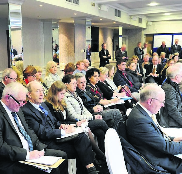 Attending the An Bord Pleanála oral hearing in regard to the M28 Cork-Ringaskiddy Project at the Ambassador Hotel, Cork. Picture: Denis Minihane.