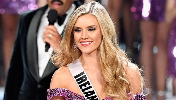 Miss Ireland 2017 Cailin Aine Ni Toibin is named a top 16 finalist during the 2017 Miss Universe Pageant. Pic: Frazer Harrison/Getty Images