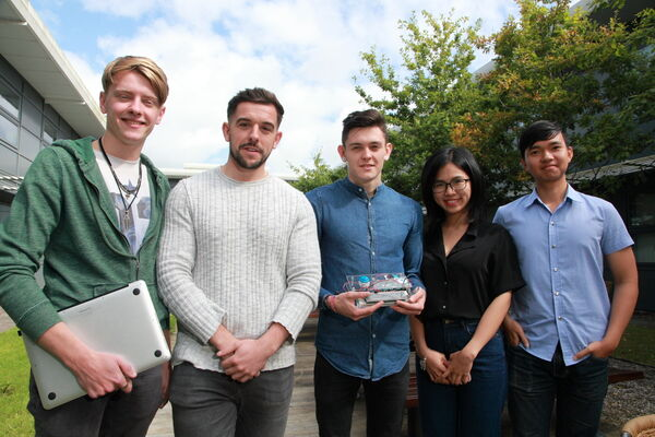 David Marshall, Stephen St. Ledger, Ross O'Halloran, Ly Thu Uyen and Nguyen Gangbinh, who took part in Student Inc.Picture: Ger Bonus