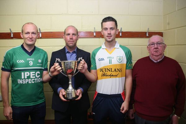 Conor Buckley, White's Cross, Colm Kenneally sponsor, Roy Downey, Delanys, and John Sweeney. Picture: Derek Connolly