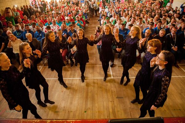 Members of the O'Sullivan School of Irish Dancing entertaining all the visitors at the opening ceremony. Pic: Brian Lougheed