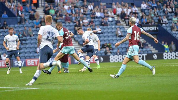Former Cork City striker and new Preston North End signing Seánie Maguire scored on his debut against Burnley. Picture: Preston North End website.