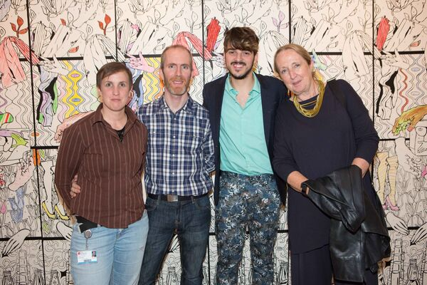 Kevin Tuohy, Arts Office, Artist Aaron Bevan and Catherine Fehily, Head of Crawford College of Arts and Design. Picture Darragh Kane