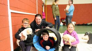 Puppies join cause to assist autistic children