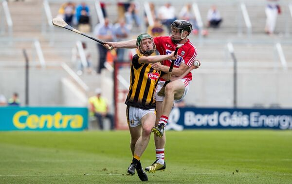 Shane O'Donovan with Martin Power of Kilkenny. Picture: INPHO/Morgan Treacy