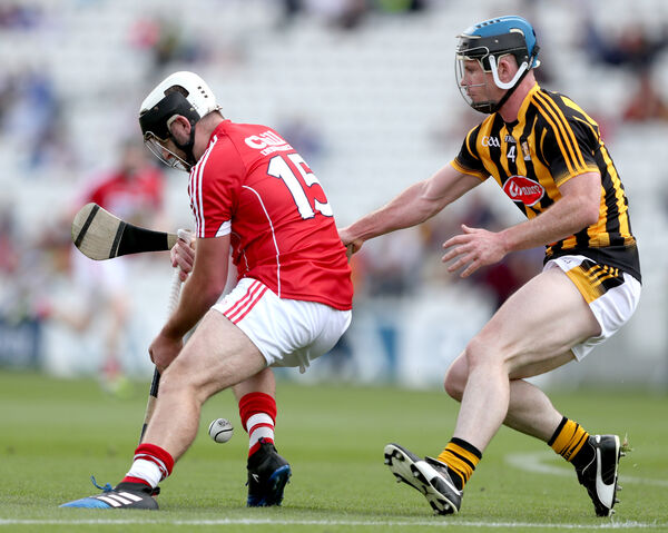 David Drake and David Prendergast of Kilkenny. Picture: INPHO/James Crombie