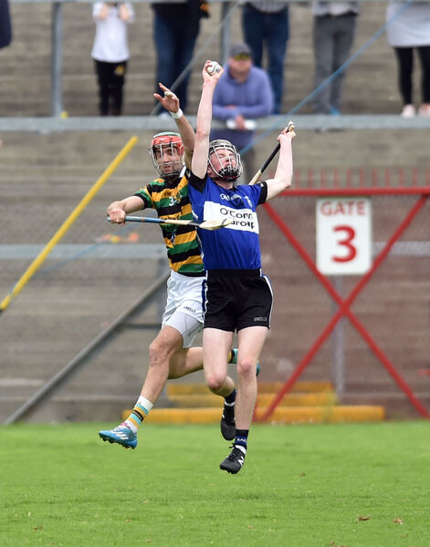Sarsfields' Jack O'Connor wins the ball from Glen Rovers' Stephen McDonnell. Picture: Eddie O'Hare